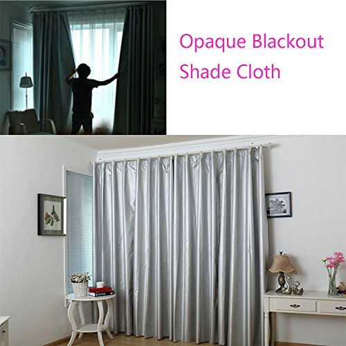 Blackout Drapery Shade Fabric Black and Silver 100 Percent Shading Light Waterproof Sunshade Cloth Light Weight (20Yards) by David accessories (Image #6)