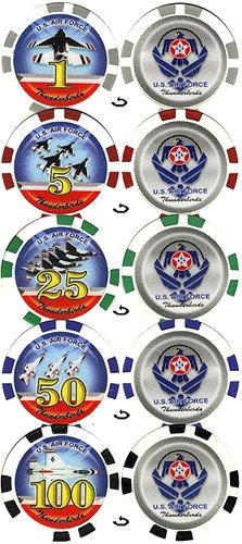 100 11.5 g US Air Force Thunderbird Poker Chip set