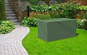 Kaiser lich24Premium–Carcasa de lona fabricado en Alemania para jardín mesa 170cm x 100cm x 71cm), color verde