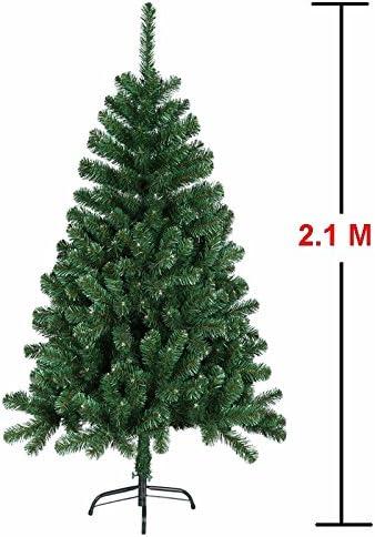 Árbol de Navidad artificial de MCTECH, disponible en otros tamaños, color: verde, de PVC, 210 cm