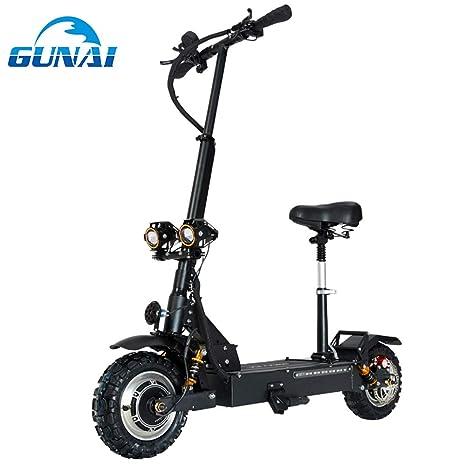 GUNAI Patinete Eléctrico Scooter Plegable con Manillar y ...