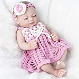 "HiPlay 11"" Reborn Baby Doll- Lifelike Realistic Design with Great Details-Cute Handmade Soft Silicone Vinyl Reborn Dolls Gifts Toys for Toddlers/Kids -Darlene"