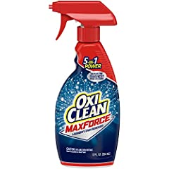 OxiClean Max Force 5 in 1 Power tackles the toughest dried-in stains. It combines 5 types of stain fighters to help remove grease, oil, grass, blood, soil, clay, food and drink stains the 1st time. Designed to help get out your toughest stain...