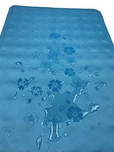 Yimobra Non-Slip Bathtub and Shower Mat Anti-Bacterial Rectangle Flowering for Bath 27 x 15.8 Inch Blue