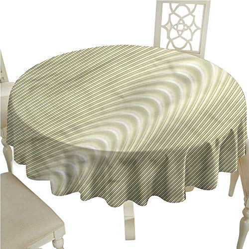 Wave Bistro Table - Tablecloth Covers for Home Modern,Simplistic Circular Wave,for Bistro Table