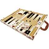 Middleton Games NEW! - 15-inch Luxurious Map Backgammon Set - White Board