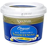 Spectrum Naturals Organic All Vegetable Shortening, 24 Ounce (Pack of 4)
