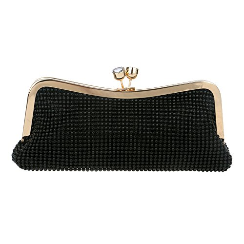Party Shoulder For Beaded Purse Glitter Diamante Bag Handbag Women Clutch Ladies Wedding Evening Gift Prom Black Bridal Bag Clubs w4nvwOq8