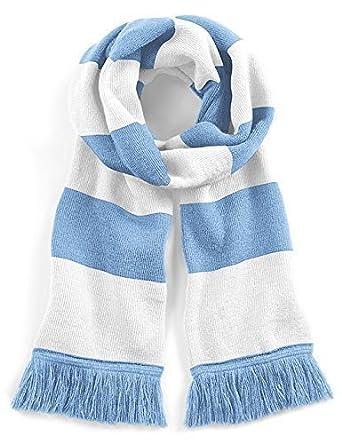 Echarpe rétro bleu ciel et blanc style université - Football   soccer    rugby 3dcd732d3b3