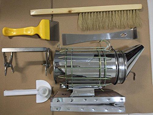 HLPB Beekeeping Tools Kit -6 Pcs. -Bee Hive Smoker, Beekeeping Accessory -Bee Keeping Tool by HLPB