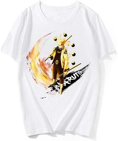 TSHIMEN Camisetas Hombre Coches Naruto Camiseta Retro Unisex para Hombre Motivo con la Bandera de Suecia tre Kronor Estampado de Tendencia Cuello Redondo Medio Manga Camisa Fondo Marea Marca Blanco: Amazon.es: Ropa