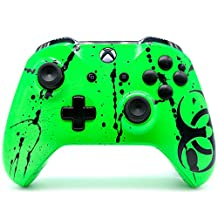 """""""Toxic Green"""" Xbox One S Rapid Fire Modded Controller 40 Mods for COD IW BO3 Remastered, Destiny ALL GAMES (with 3.5 jack)"""