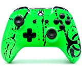 ''Toxic Green'' Xbox One S Rapid Fire Custom Modded Controller 40 Mods for All Major Shooter Games, Auto Aim, Quick Scope, Auto Run, Sniper Breath, Jump Shot, Active Reload & More (with 3.5 jack)
