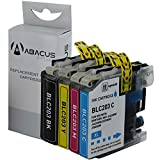 Abacus24-7 Compatible Brother LC-203 Ink Cartridges [High Yield LC-201] and DCP-J4120DW MFC-J4420DW MFC-J460DW MFC-J480DW MFC-J485DW MFC-J5520DW MFC-J5720DW MFC-J680DW MFC-J885DW. Printers - 4 Pack