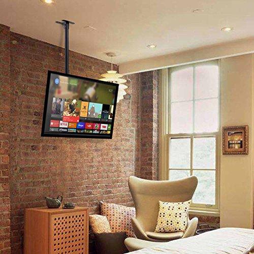 Porta Tv Da Soffitto.Simbr Supporto Tv Staffa Tv Da Soffitto Ideale Per Tv 22 75 Max Vesa 600x400mm Plasma Lcd Led Carico Massimo 50kg