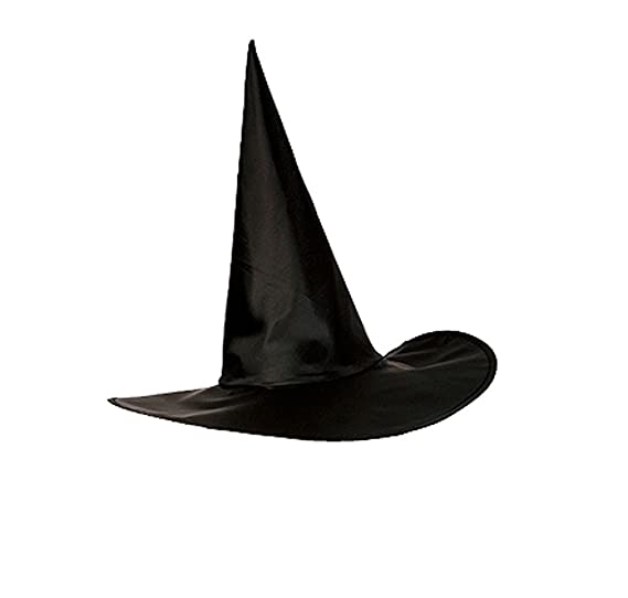 qinni shop halloween witch wizard pure black pointy hat and hat cape pure black