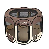 OUTAD Pet Pop Up Tent Large Pet Playpen Kennel Pop Up Tent For Dog Cat Rabbit Puppy