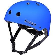 GIORO Skateboard Helmet Impact Resistance Safe Helmet with Ventilation Multi Sport for BMX Bike Skate& Scooter,Dual Certified CPSC Adult &Kids Adjustable Dial Helmet-Multiple Colors&Sizes
