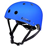 GIORO Skateboard Helmet Impact Resistance Safe Helmet with Ventilation Multi Sport for BMX Bike Skate& Scooter,Dual Certified CPSC Adult &Kids Adjustable Dial Helmet-Multiple Colors&Sizes (Blue, L)
