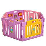 Tobbi Pink&Purple Baby Playpen Kids 6 Panel Safety Center Yard Home Indoor Outdoor Review
