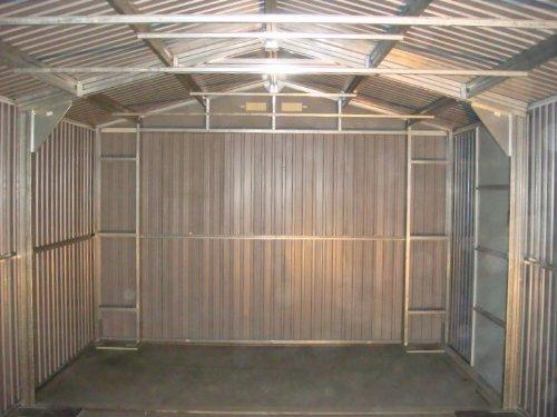 Duramax 50961 Metal garaje cobertizo con puerta lateral, 12 por 20-Feet: Amazon.es: Jardín
