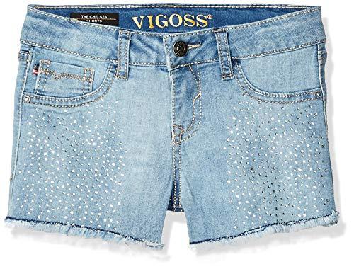 VIGOSS Girls' Big Fashion Short, Snowflake Crystalgaleon, 10 ()