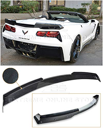 - Extreme Online Store for 2014-Present Chevrolet Corvette C7 | EOS Z06 Z07 Stage 2 Style ABS Plastic Painted Carbon Flash Metallic Rear Trunk Lid Spoiler Wing Lip