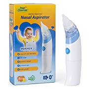 Baby Nasal Aspirator - Safe, Quick, and Hygienic Electronic Battery Operated Nose Cleaner - Comfortable Feel Snot Sucker to Gently Help with Nasal Decongestion/Mucus for Toddlers and Newborns