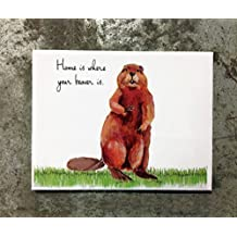 Home is where your beaver is Magnet.