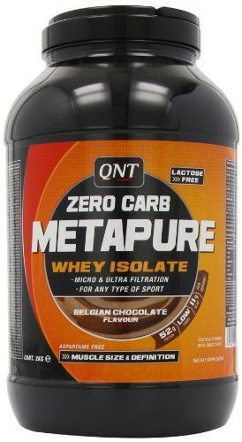 QNT Metapure Zero Carb 2000 g Chocolate Lean Muscle Growth Shake Powder by QNT by QNT
