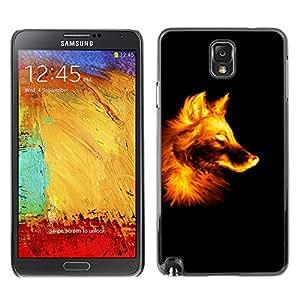 El León Raging - Metal de aluminio y de plástico duro Caja del teléfono - Negro - Samsung Note 3 N9000