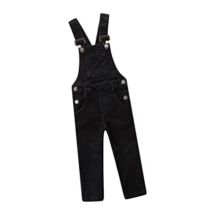 b3809f977f AMhomely Pantalones vaqueros colgantes para bebés y niñas con bolsillo