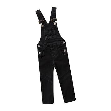 AMhomely Pantalones vaqueros colgantes para bebés y niñas ...