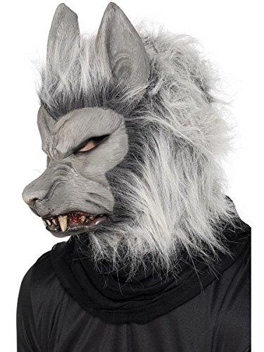 Furry Werewolf Mask Silver -