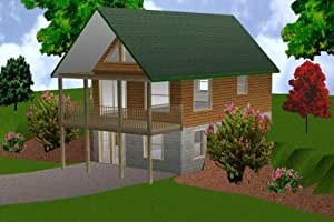 20x30 cabin w loft plans package blueprints material for Easy cabin designs