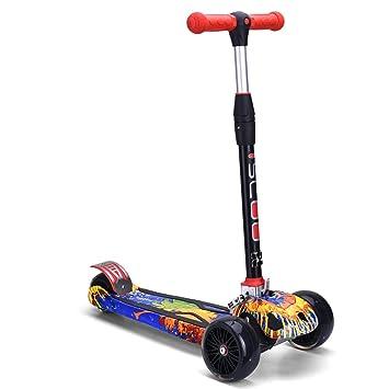 Patinetes Scooter Kids 3 Ruedas Scooter Plegable, 4 Altura ...