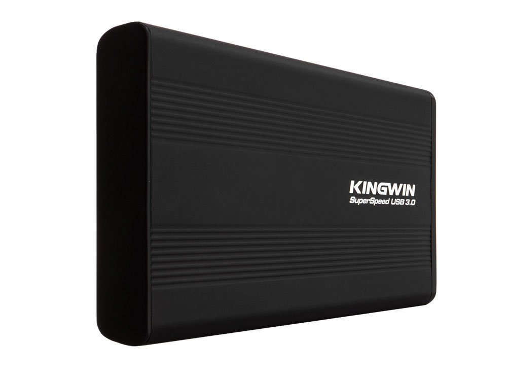 """Kingwin Aluminum USB 3.0 to 2.5"""" Hard Drive External Enclosure Case for 7mm & 9.5mm inch SATA SSD/HDD, UASP Support, 5Gbps Transfer rate [Support SATAI/II/III] and [Optimized for SSD]-Black"""