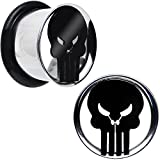 9/16'' Licensed The Punisher Single Flare Steel Tunnel Plugs Set