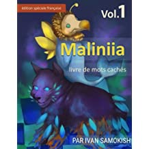 Maliniia Word Search Book Vol. 1: Find words to reveal pictures! [FRENCH SPECIAL EDITION]