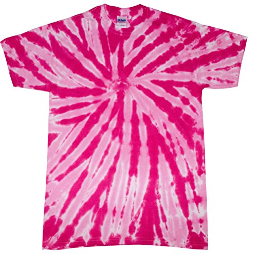 Colortone Tie Dye T-Shirt 2X Twist Pink -