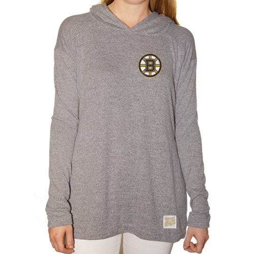 NHL Boston Bruins Women's Pullover Hoodie, X-Large, Grey Heather (Boston Sweatshirt Ladies Hoody Bruins)