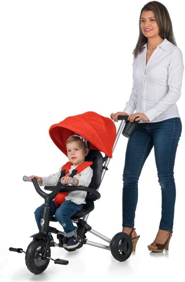 Plegable Ideal para ni/ños de 10 a 36 Meses Triciclo Bebe Nova Rosa QPLAY m/áximo 25 Kg Evolutivo Arn/és de Seguridad