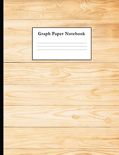 Graph Paper Notebook: Wooden Texture Quad Ruled 4 x 4 (.25'') Composition Book for Math & Science Students and Teachers