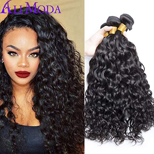 (Ali Moda Malaysian Virgin Hair 3 bundles Water Wave Wet and Wavy Water Weave Human Hair Bundles Malaysian Water Wave Virgin Hair(10 12 14))