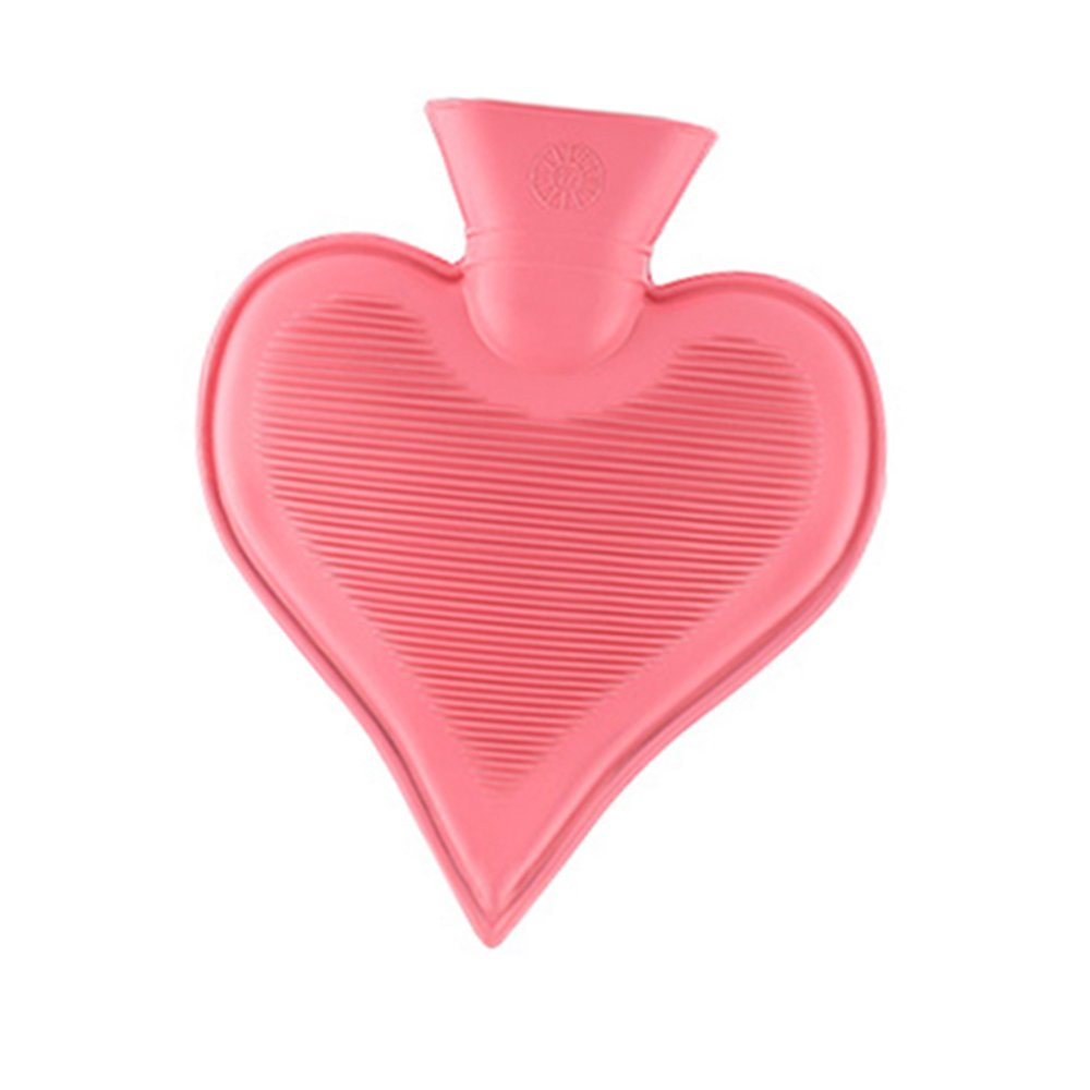 Premium Classic Rubber Small Hot Water Bottle, Great for Pain Relief, Hot and Cold Therapy (Small) (650 ml (Heart-shaped))