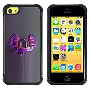 Suave TPU GEL Carcasa Funda Silicona Blando Estuche Caso de protección (para) Apple Iphone 5C / CECELL Phone case / / abstract glass art 3d reflection grey /