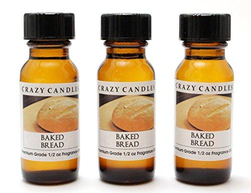 Baked Bread 3 Bottles 1/2 FL Oz Each (15ml) Premium Grade Scented Fragrance Oil by Crazy (Each Bread)