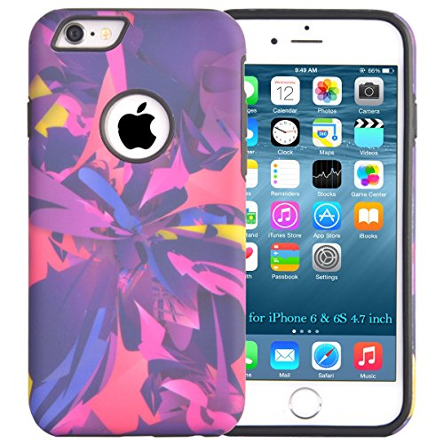 iPhone 6 6S Case, Dimaka Print Pattern Design Case with 2 Layers [High Impact] Protective Case for iPhone 6 and 6S 4.7