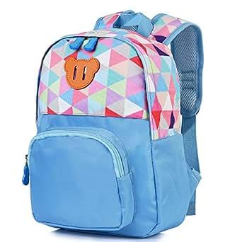 Vbiger Toddler Backpack Kids' Cartoon Carrying Bag Schoolbag (Blue)