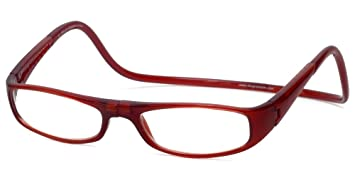 9089bd78b9 Image Unavailable. Image not available for. Color  Clic Euro Reading Glasses  in Bordeaux ...